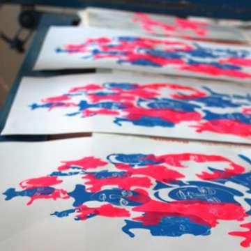 Atelier sérigraphie organisé par Le Kiosque (Mayenne)